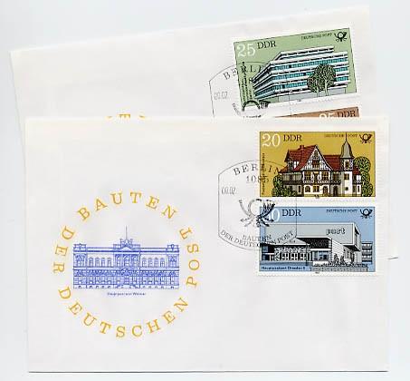 DDR FDC MiNr. 2673/76 Bauten d. Deutschen Post