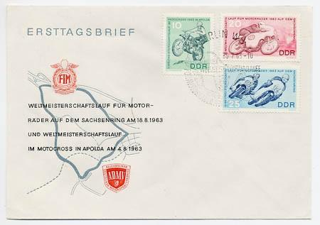 DDR FDC MiNr. 972/74 Motorrad-WM