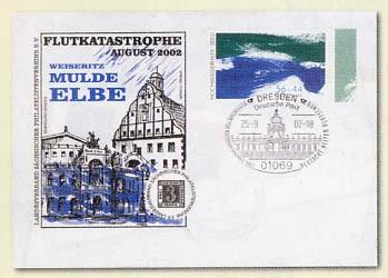 """BRD Brief """"Hochwasserhilfe 2002"""" des LV Sachsen mit MiNr. 2278"""