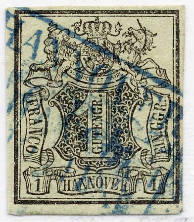 Hannover MiNr. 2a o 1 Gutegroschen / graugrün