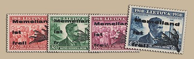 Memelgebiet MiNr. I-IV ** (gemischte Typen) Dt. Verwaltung für das Memelland 1939