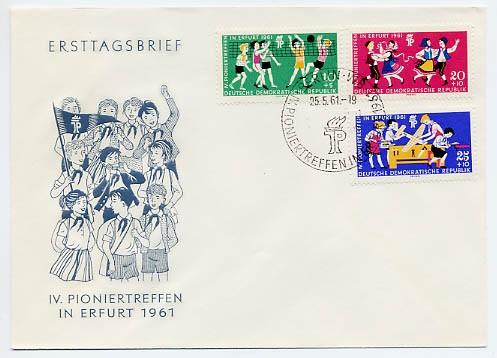 DDR FDC MiNr. 827/29 Pioniertreffen
