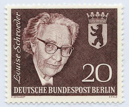 Berlin MiNr. 198 ** 4. Todestag Louise Schröder 1961