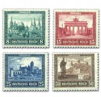 Dt. Reich MiNr. 450/53 ungebraucht Dt. Nothilfe 1930 - Bauwerke