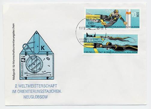 DDR FDC MiNr. 2961/62 Orientierungstauchen-WM
