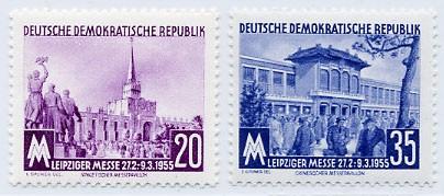 DDR MiNr. 447/48 ** LFM 1955
