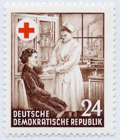 DDR MiNr. 385y ** Rotes Kreuz