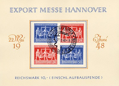 All.Bes.GA Messeblatt MiNr. 969/70 VZD1 mit SoSt. Exportmesse Hannover