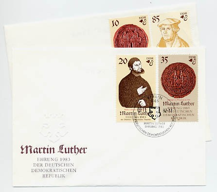 DDR FDC MiNr. 2754/57 Martin-Luther-Ehrung