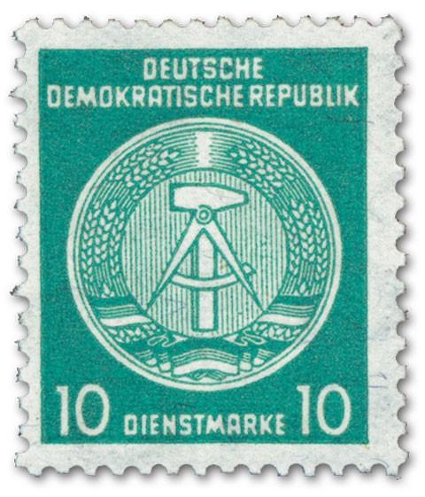 DDR Dienstmarken A MiNr. 30yII XII** Bdr. /10 Pf. /y-gefasertes Papier /Typ II /Wz. XII