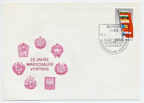 DDR FDC MiNr. 2507 Warschauer Vertrag