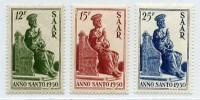 Saarland MiNr. 293/95 ** Heiliges Jahr 1950