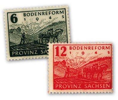 SBZ Prov.Sa. MiNr. 90/91 Y ** Bodenreform