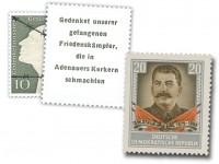 """DDR Adenauermarke ** amtliche """"Überklebemarke"""" mit Wz.2"""