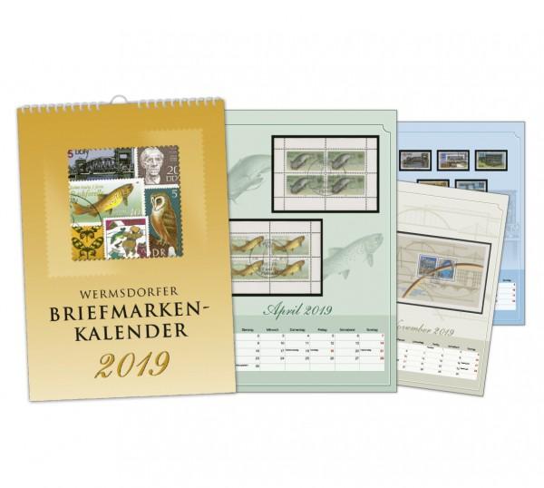 Wermsdorfer Briefmarkenkalender 2019