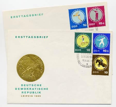 DDR FDC MiNr. 1133/37 Fünfkampf