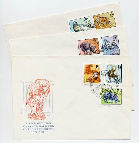 DDR FDC MiNr. 2030/37 Zootiere