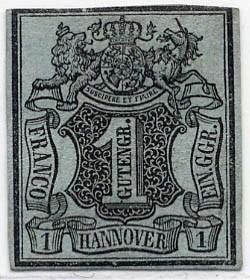 Hannover MiNr. 1 (*) 1 Gutegroschen / blaugrau