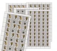 DDR Bogenkollektion MiNr. 3226/29 ** Fernsprechapparate, 5 Bogen inkl. Sammelblatt