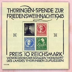 SBZ Thür. MiNr. Block 2x **Mit Foto-Attest Friedensweihnacht 1945; Soziale Wohlfahrt