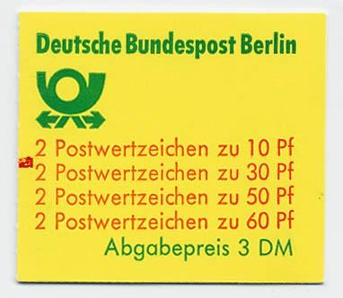 Berlin MH 12a ** mZ / Burgen und Schlösser 1980 mit Zählbalken