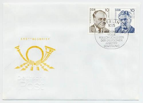 DDR FDC MiNr. 3300/01 Persönlichkeiten