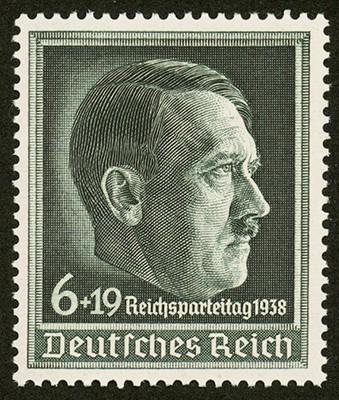 Dt. Reich MiNr. 672y ** 10. Reichsparteitag 1938