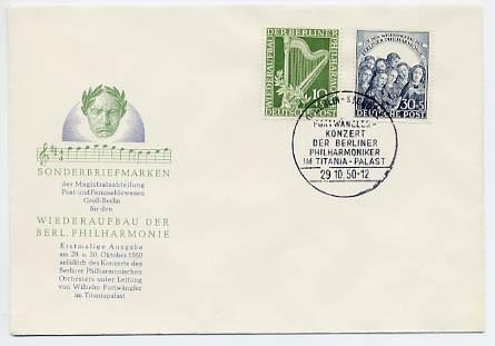 Berlin FDC Mi-Nr.72/73 Wiederaufbau der Berliner Philharmonie
