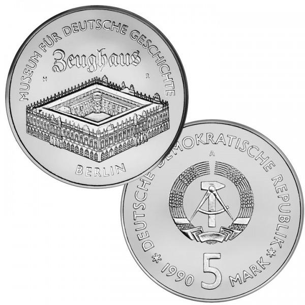DDR Münze 1990, 5 M, st Zeughaus Berlin