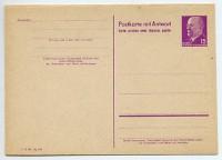 DDR Ganzsache P 74 * 15Pf/15Pf mit Antwortkarte Walter Ulbricht