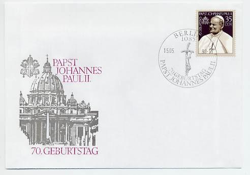 DDR FDC MiNr. 3337 70. Geb. Johannes Paul II