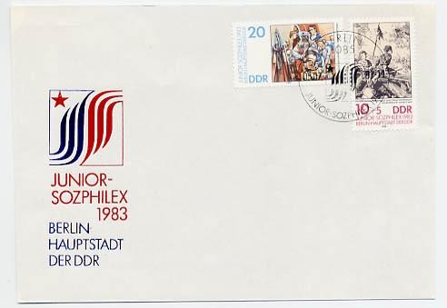 DDR FDC MiNr. 2812/13 Briefm. -Ausst. Junior-Sozphilex
