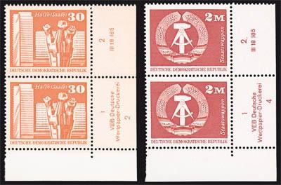 DDR MiNr. 1899/1900 ** Eckrandst. mit DV Freimarken: Aufbau in der DDR