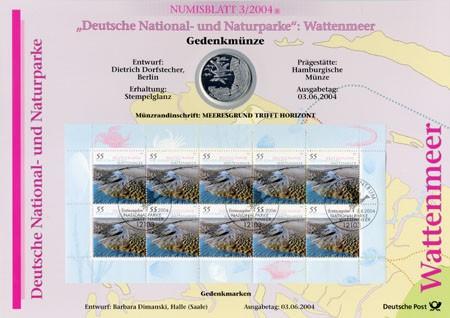 BRD Numisblatt 3/2004 Wattenmeer