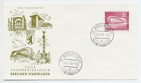 Berlin FDC Mi-Nr. 154 - 3 DM Berliner Stadtbilder (II)