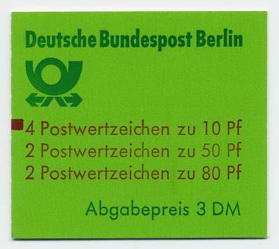 Berlin MH 13b ** mZ / Burgen und Schlösser 1982 mit Zählbalken