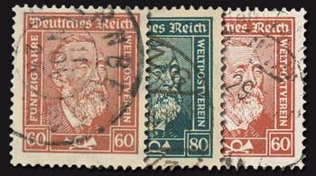 Dt. Reich MiNr. 362/63 x + 362 y o