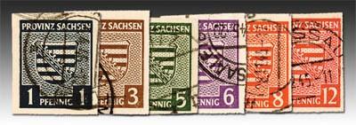SBZ Prov.Sa. MiNr. 66/71 X o