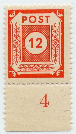 SBZ Ost-Sa. MiNr. 60 b ** Ziffern 12 Pf., gepr. Ströh