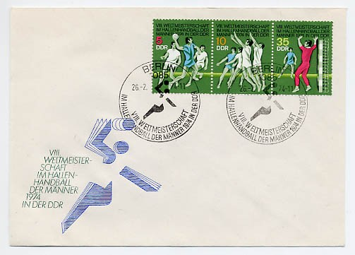 DDR FDC MiNr. 1928/30 Hallenhandball-WM