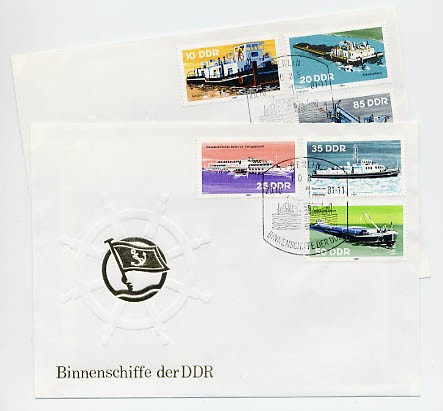 DDR FDC MiNr. 2651/56 Binnenschiffe