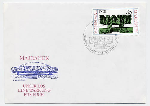 DDR FDC MiNr. 2538 Mahnmal Majdanek