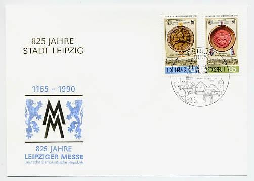 DDR FDC MiNr. 3316/17 LFM 1990