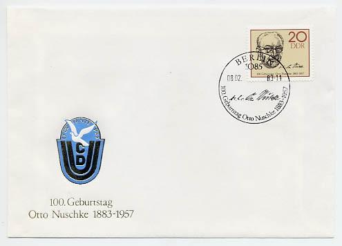 DDR FDC MiNr. 2774 Otto Nuschke