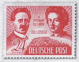 SBZ Allg.A. MiNr. 229 ** 30.Todest.K.Liebknecht/Rosa Luxemburg