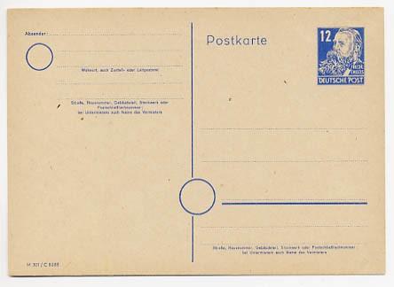 SBZ Allg.A. Ganzsache P 36/01 * 12 Pf.