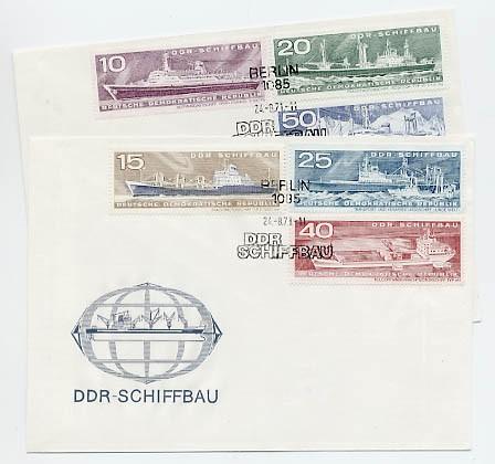 DDR FDC MiNr. 1693/98 Schiffbau d. DDR