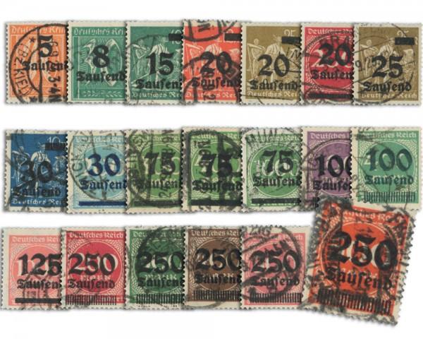 Dt. Reich MiNr. 277/96 o gepr. - 20 Werte Notausgaben Hochinflation mit Aufdr.