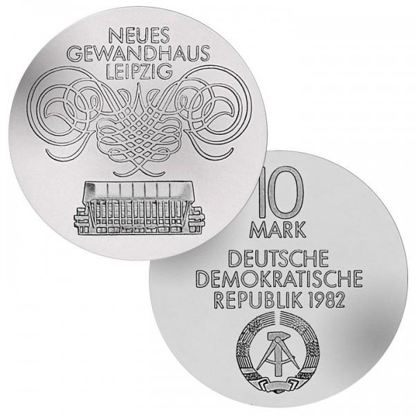 DDR Münze 1982, 10 M, st Neues Gewandhaus Leipzig