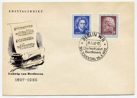 DDR FDC MiNr. 300/01 Beethoven